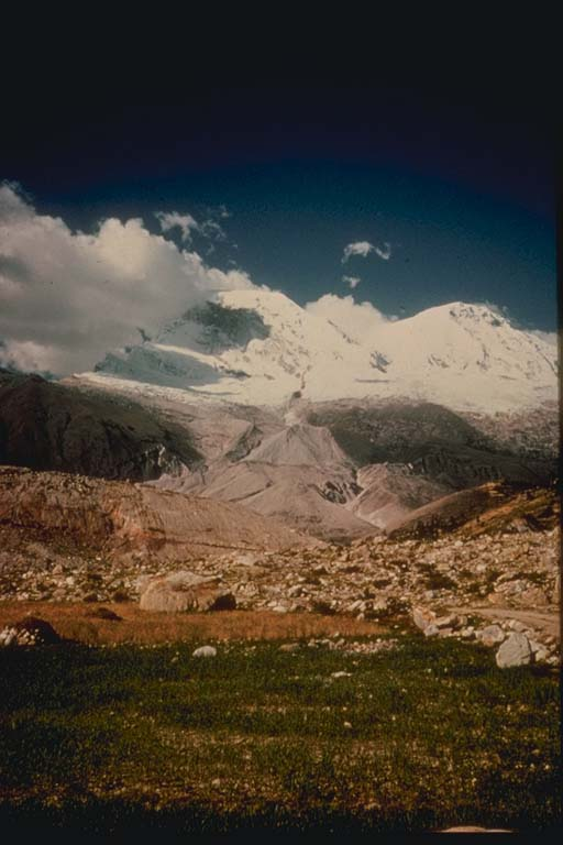 Rock and Snow Avalanche, Mt. Hauscaran, Peru