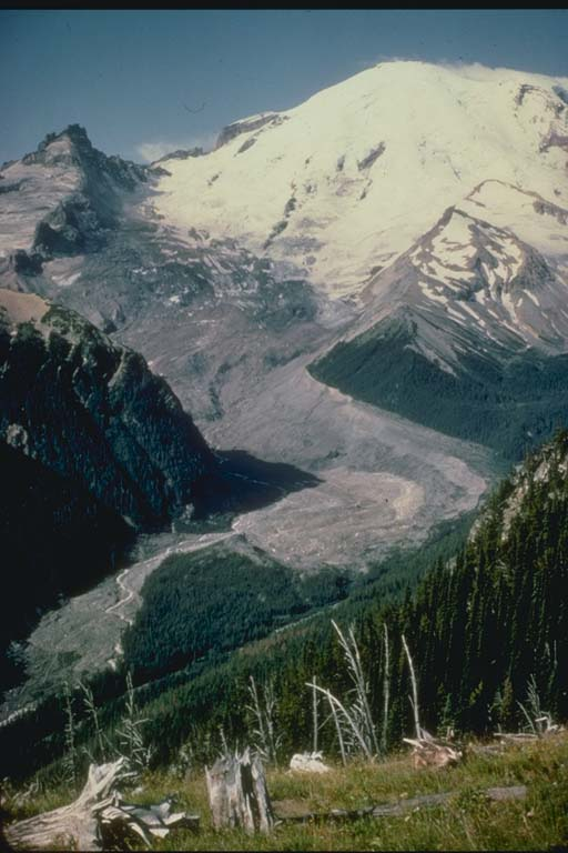 Rockfall Avalanche, Mt. Rainer, Washington