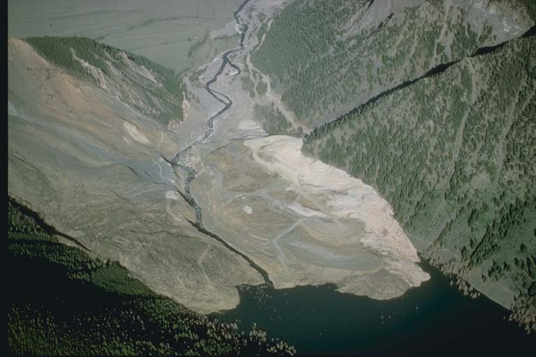 Slide and Alluvial Fan, Madison River, Montana