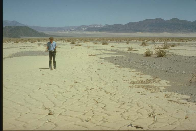 Mudflow, Death Valley, California