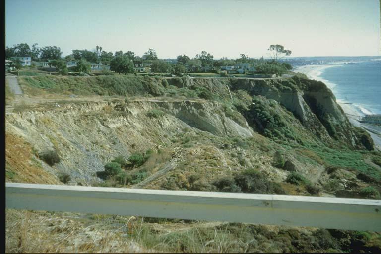 Slump, Pacific Palisades, Southern California