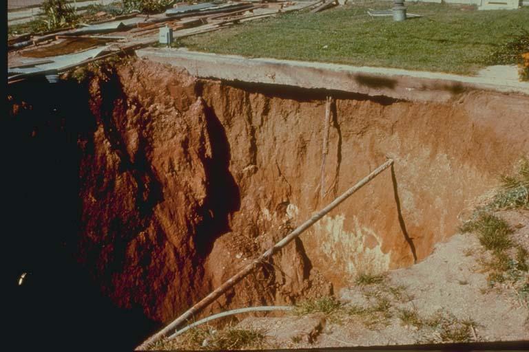 Sinking, Coal Mine Collapse, Lafayette, Colorado