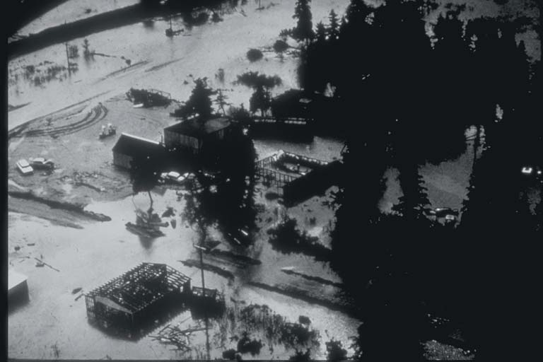 Subsidence at Portage, Alaska