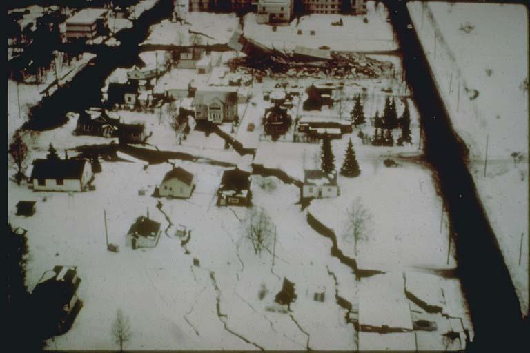 """""""L"""" Street Landslide, Anchorage, Alaska"""