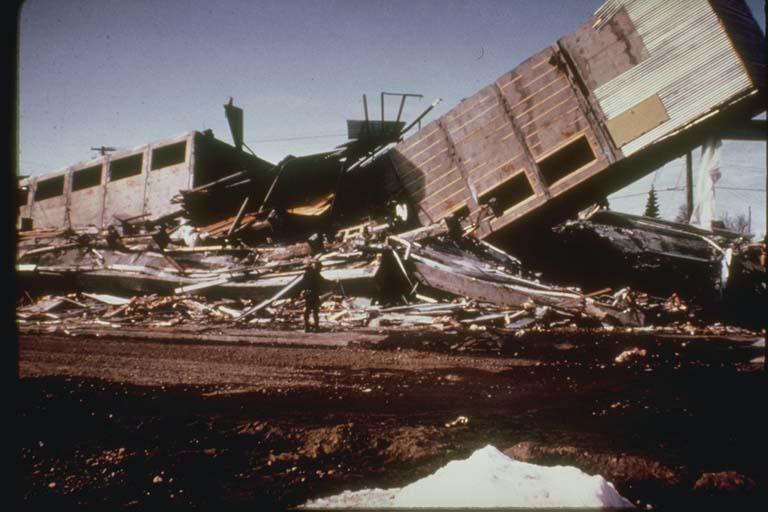 Damaged Four Seasons Apartments Anchorage, Alaska