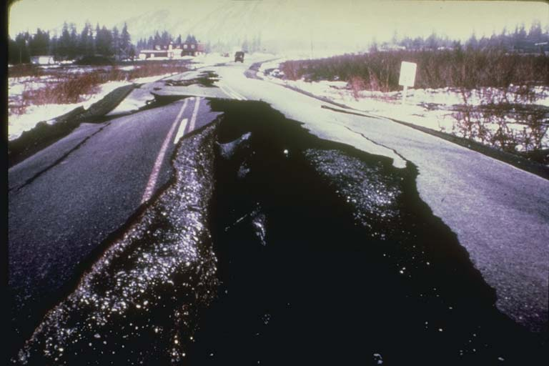 Fissured Highway Embankment, Alaska