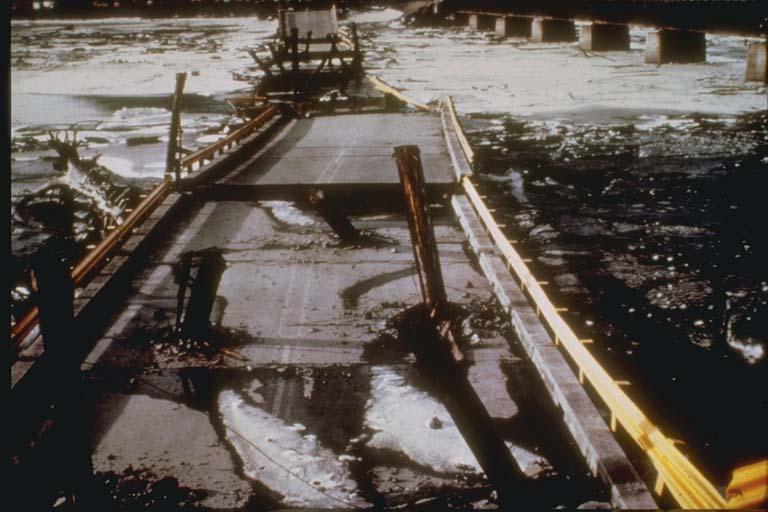 Bridge Damage, Twentymile River, Alaska