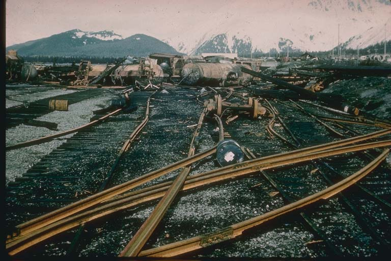Damage to Rails at Seward Port, Alaska