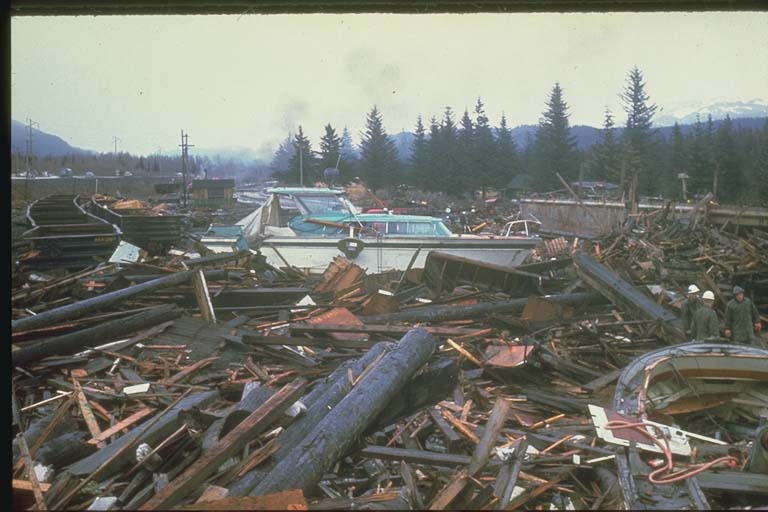 Tsunami Damage near Seward, Alaska