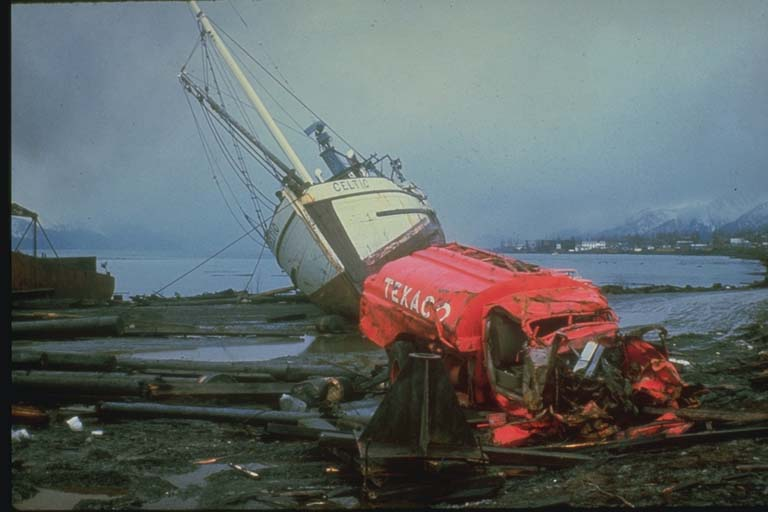 Tsunami Damage near Resurrection Bay, Alaska