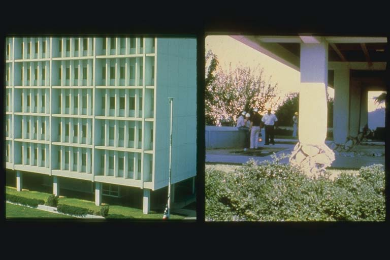 Imperial County Services Building Before and After 1979 Earthquake