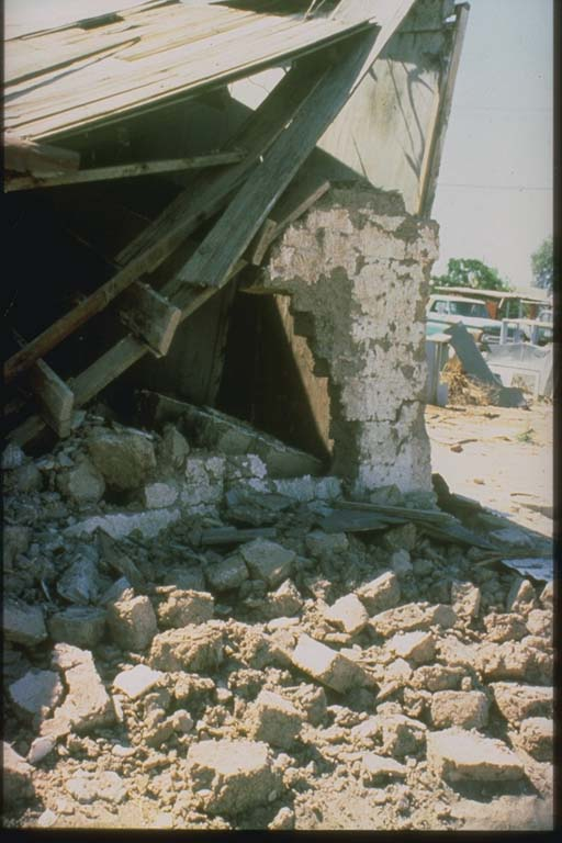 Damage to Adobe Building