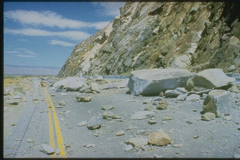 Rockfall on Highway