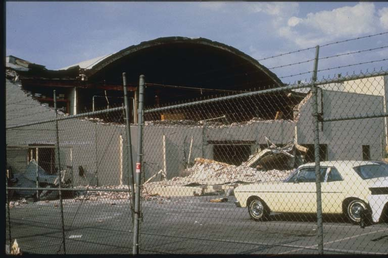Partial Collapse of Store in 1987 Whittier, CA