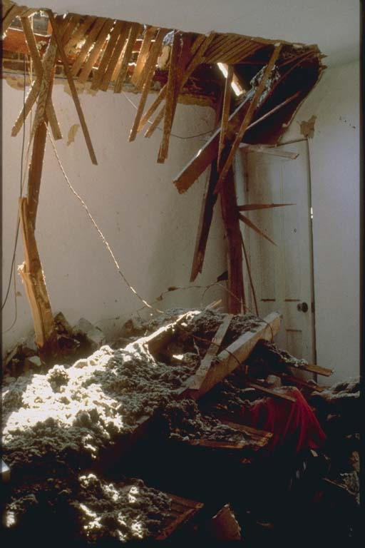 Interior View of Damaged Residence, Whittier, CA