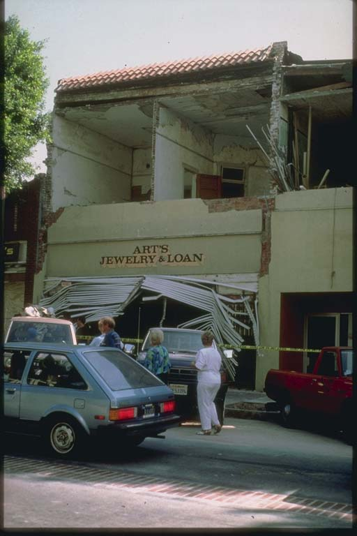 Collapse of Wall of Store