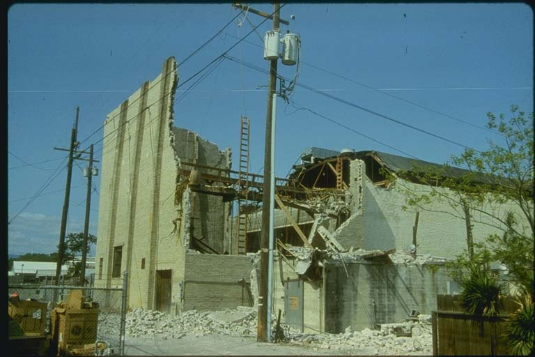 Damage to State Theater Building, Coalinga, 1980-1984