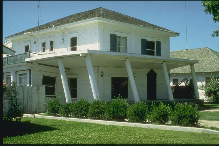 Porch Columns Damage, Residence in Coalinga