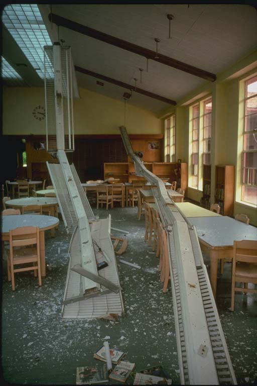 Interior Damage, Coalinga Junior High School