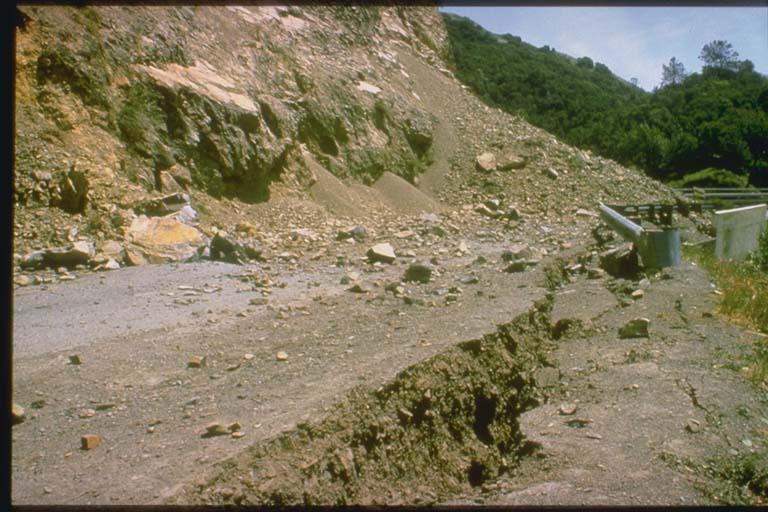 Landslide near Morgan Hill