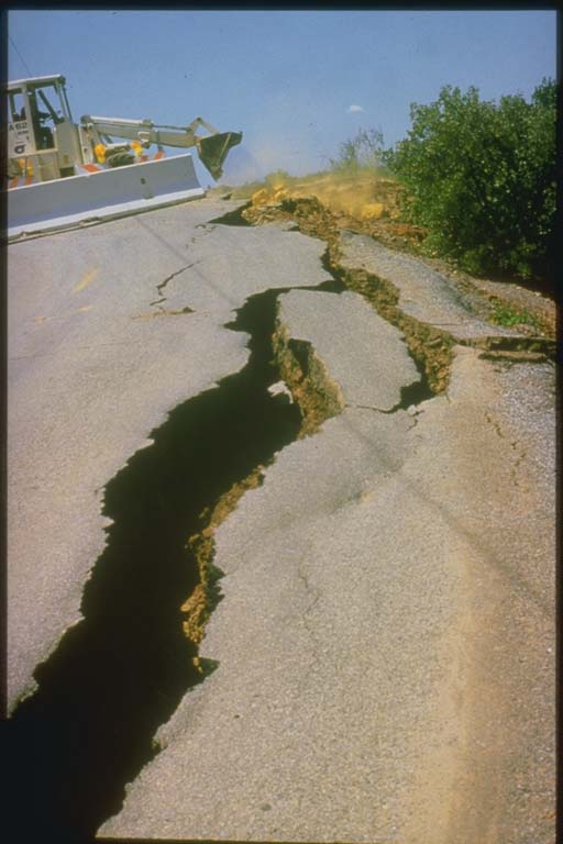 Cracks in Roadway, Morgan Hill