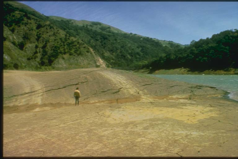 Liquefaction Damage to Earthen Dam, Morgan Hill
