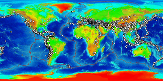 Global plot of significant earthquakes