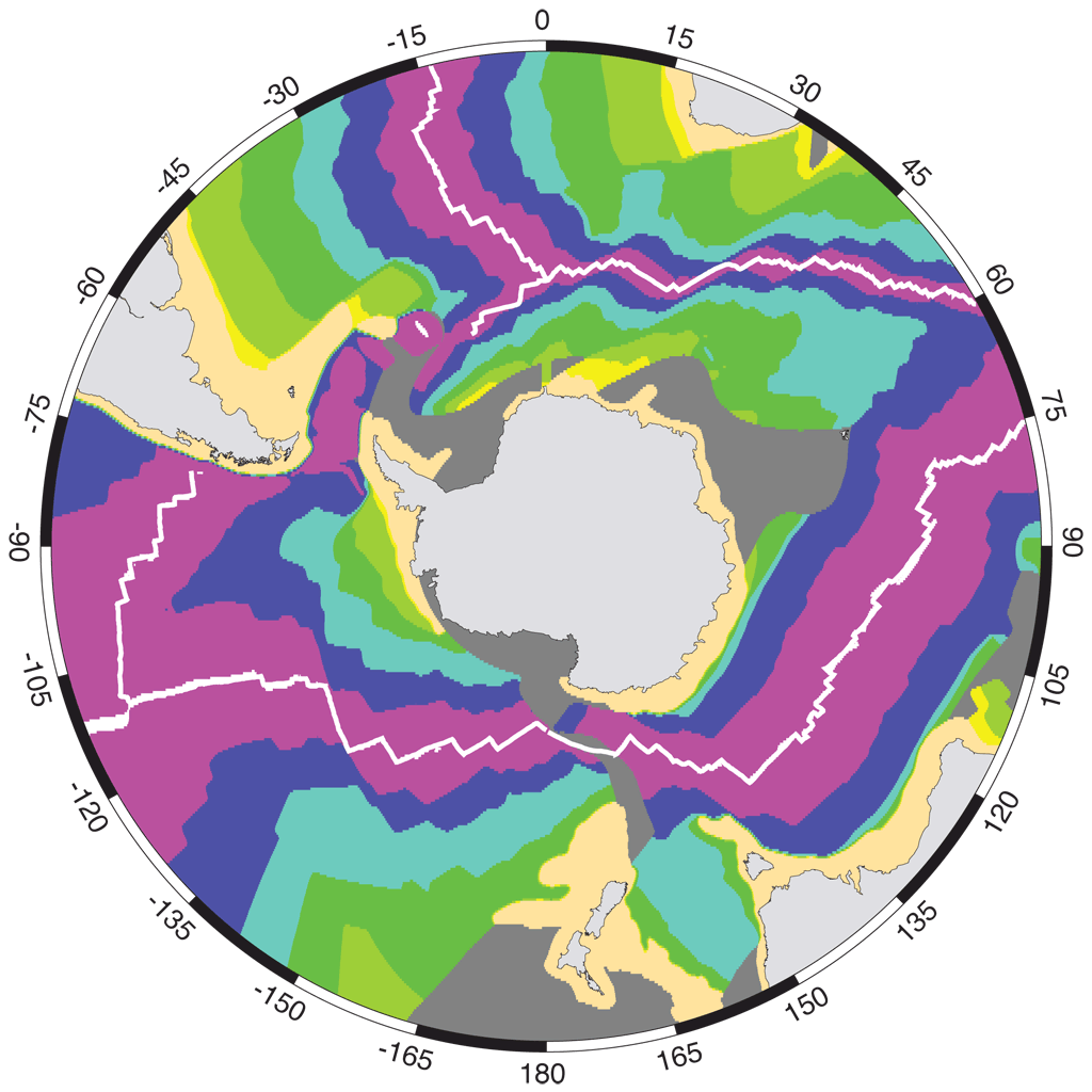 Marine Geological and Geophysical Atlas of the Circum-Antarctic to 30°S