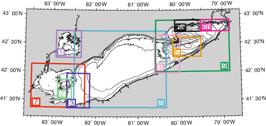 topographic map of lake erie Bathymetry Of Lake Erie And Lake Saint Clair