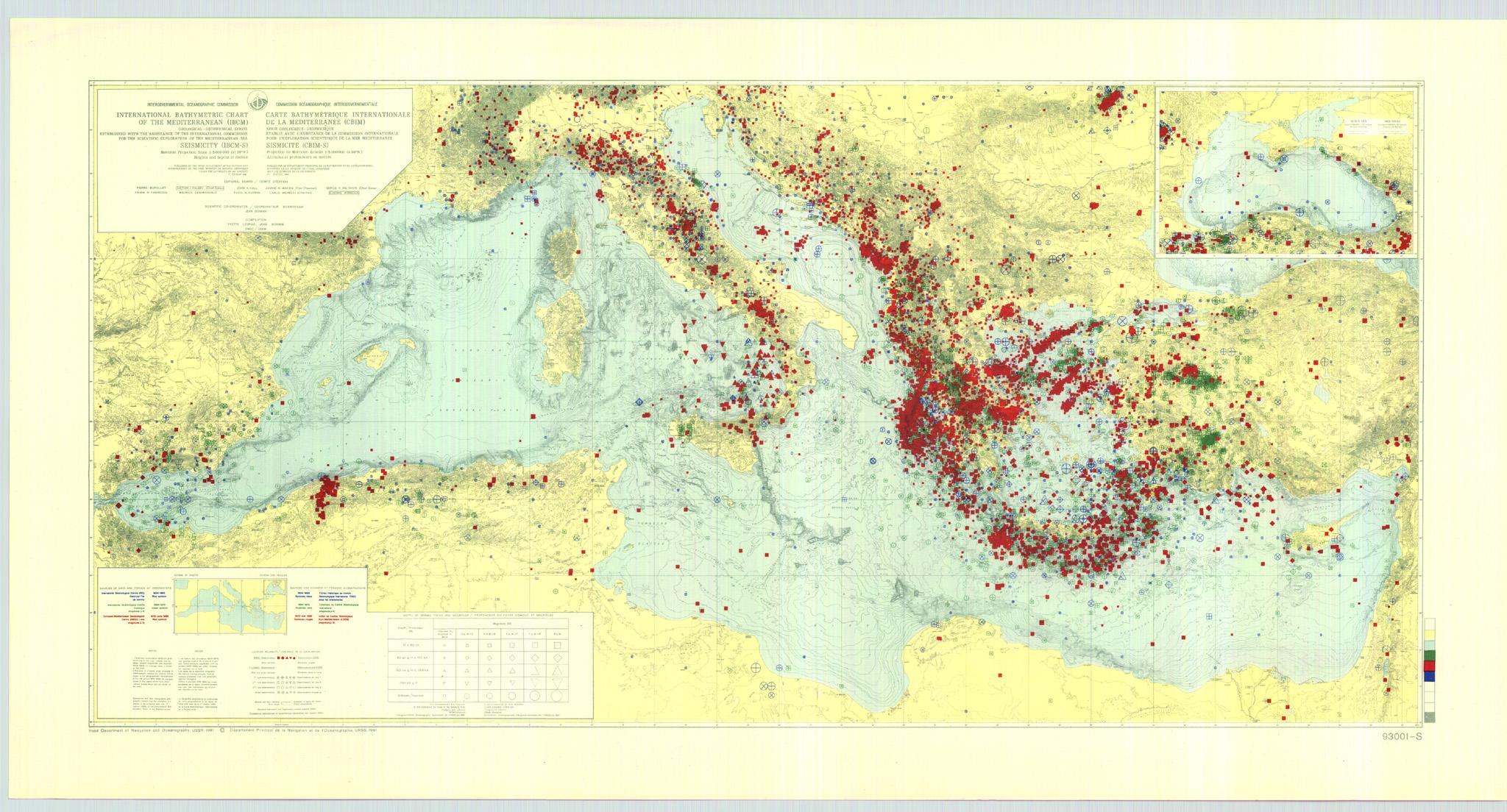 IOC IHO IBCM-International Bathymetric Chart of the Mediterranean   NCEI