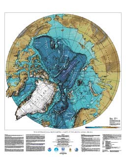 IBCAO Poster of Arctic Bathymetry.
