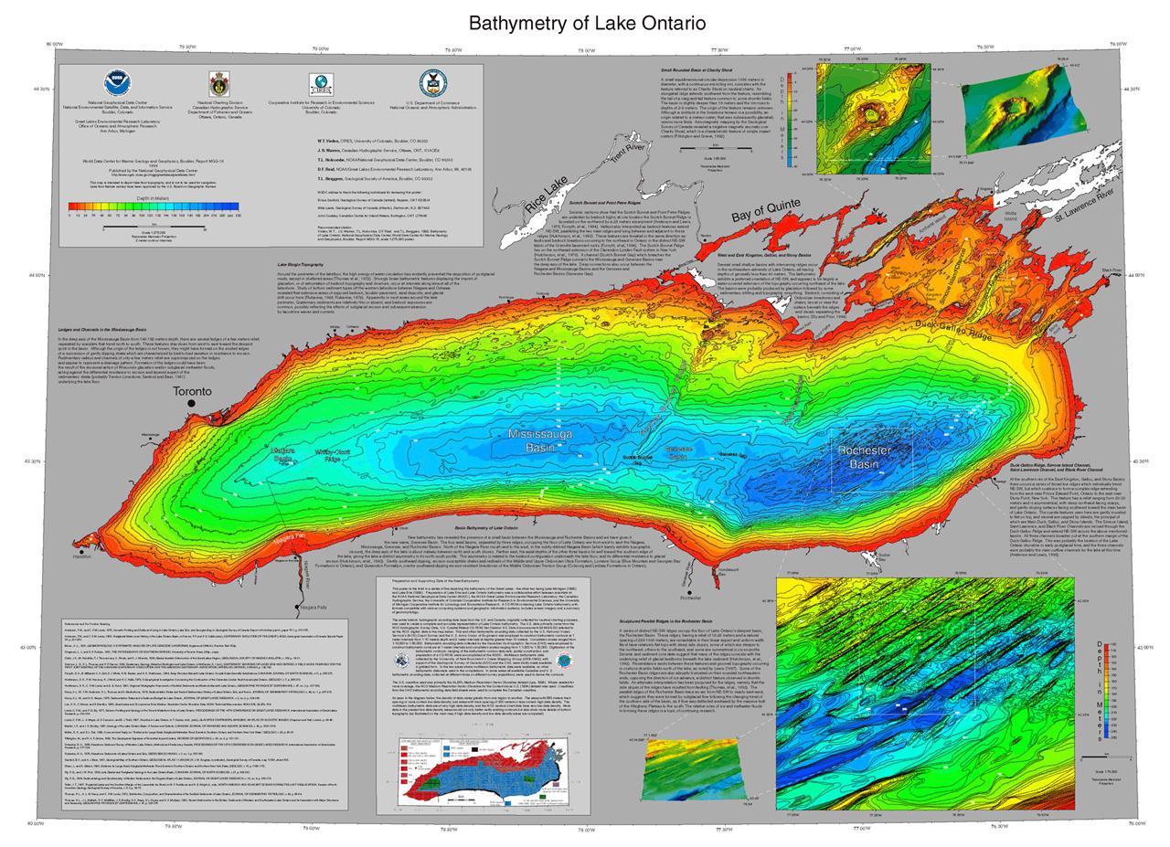 Bathymetry of Lake Ontario | NCEI