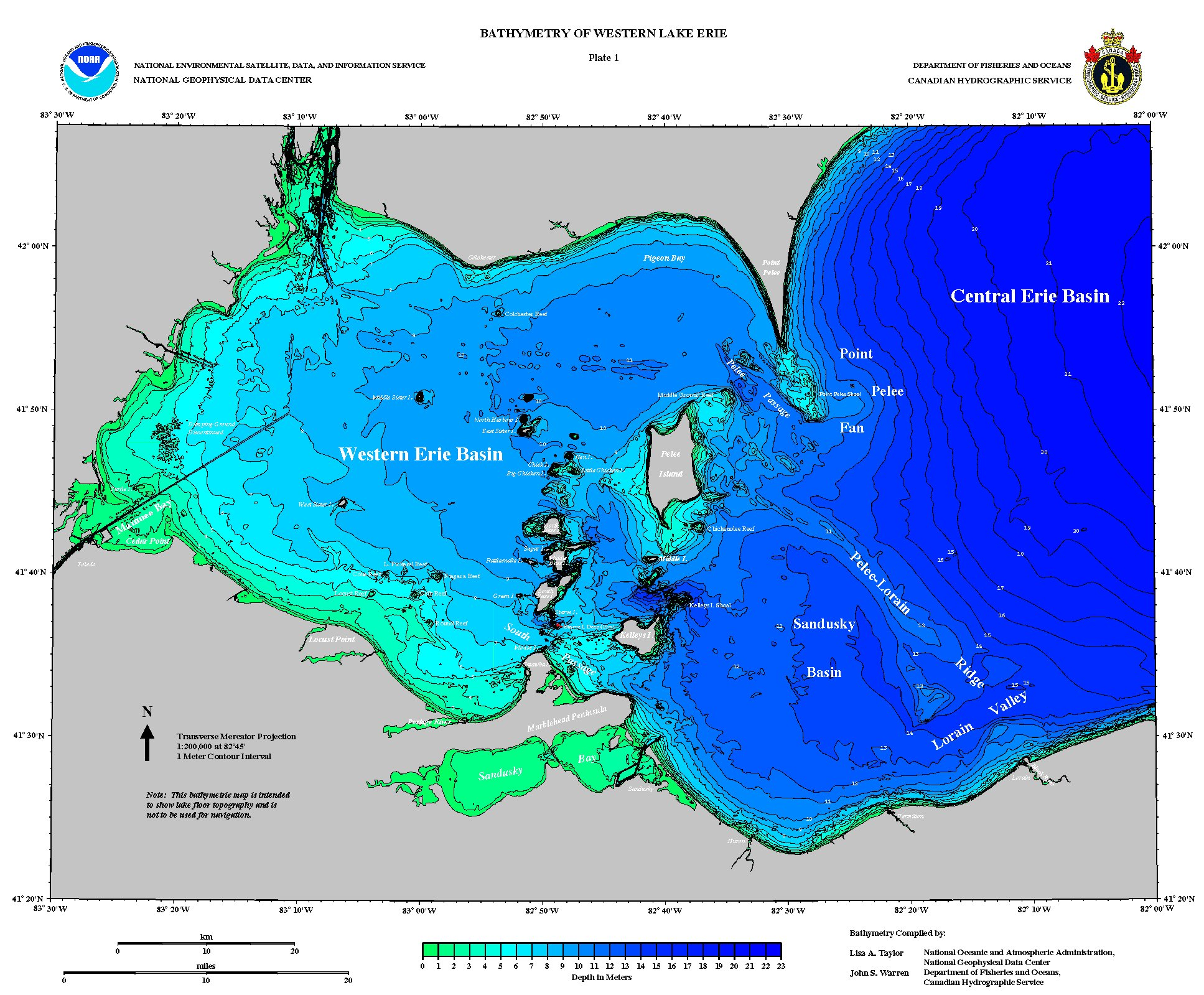 lake erie jpg preview . bathymetry of lake erie and lake saint clair  ncei