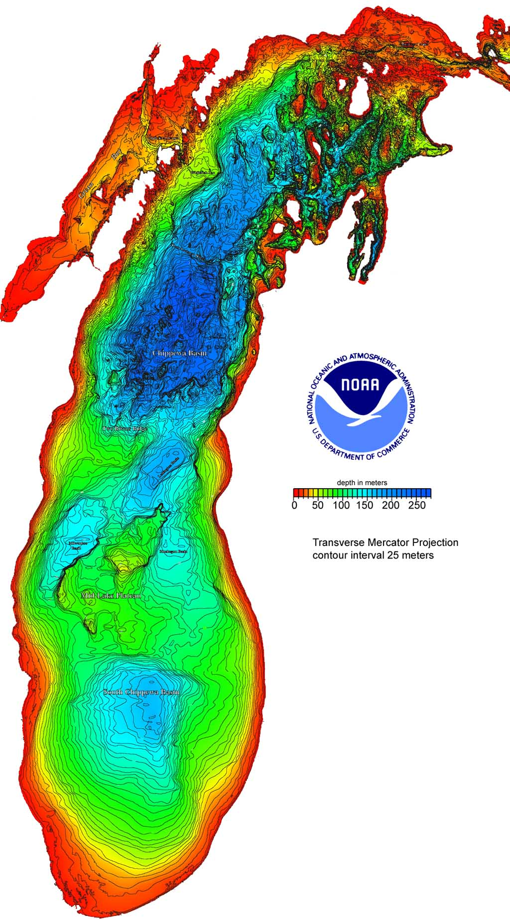 Image result for lake michigan depth