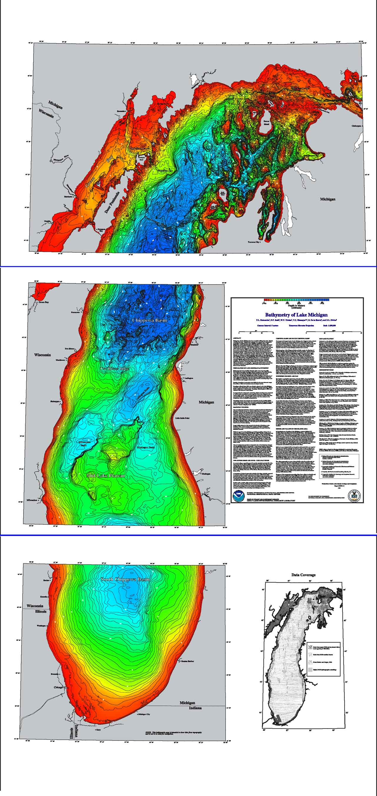 Bathymetry of Lake Michigan | NCEI