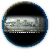still image of tsunami science on a sphere presentation