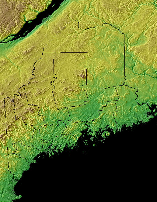 Topography Map Of Maine.Maine State Information Symbols Capital Constitution Flags