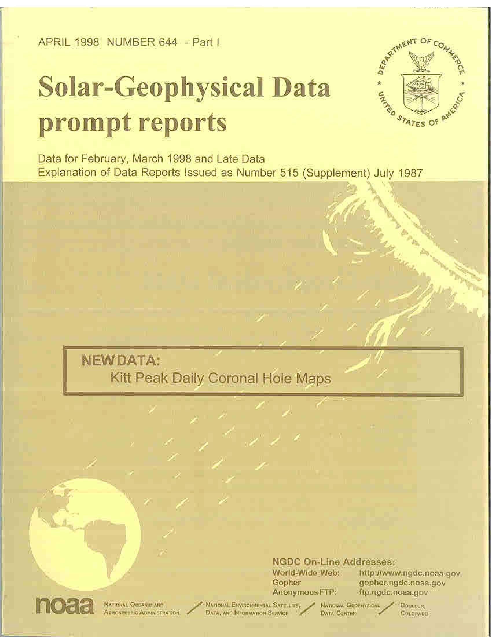 Solar Geophysical Data image
